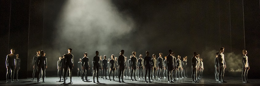 Students performing in 'Pulse' at Royal Ballet School Summer Performances 2019