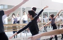 Students in the studio at a Summer Intensive course