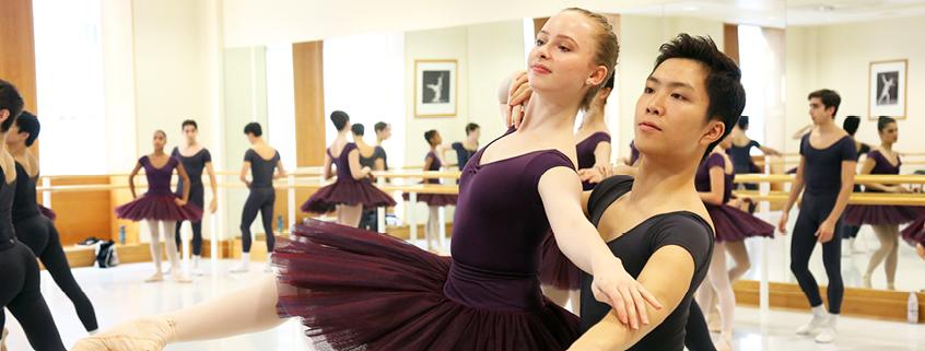 3rd Year students dancing in Upper School studio
