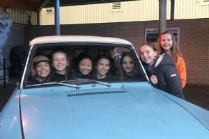 Students on a visit to Harry Potter Studios
