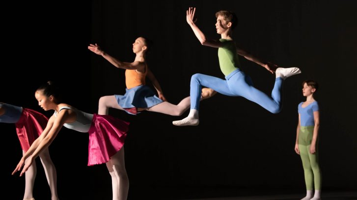 Students participating in the Kenneth MacMillan Emerging Choreographer programme