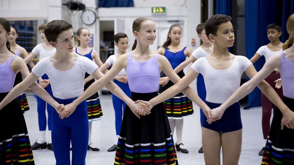 Dancers in clothed national dress